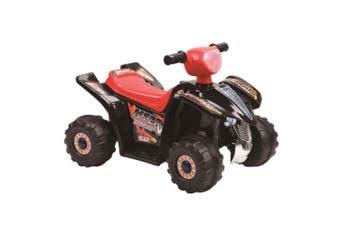 Indoor/Outdoor Black Electric Quad Bike Ride On/Motorbike/Kids/Toddler/Battery