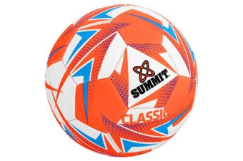 Summit Global Classic Size 5 Soccer Ball/Football Orange Sport Indoor/Outdoor
