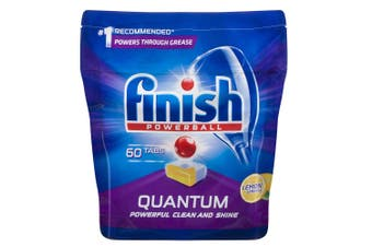 Finish 60 Tabs Powerball Quantum Lemon Sparkle Dishwashing Tablet for Dishwasher