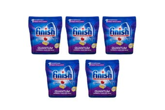 5x Finish 60 Tabs Powerball Quantum Lemon Sparkle Dishwashing/Dishwasher Tablet