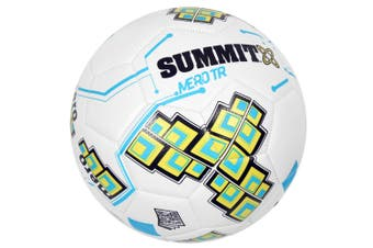 Summit Size 5 White Club Trainer Soccer Ball/Football Sport Ball Game Kids/Adult
