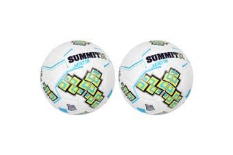 2PK Summit Size 5 White Club Trainer Soccer Ball/Football Sport Ball Game