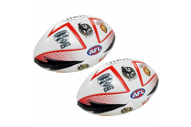 2PK All Team AFL 27cm Soft Ball Football Footy League Sport Play/Toy/Kids