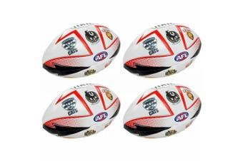 4PK All Team AFL 27cm Soft Ball Football Footy League Sport Play/Toy/Kids