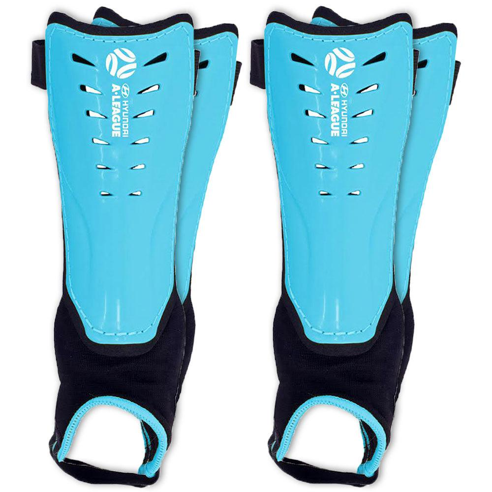 Hyundai A-League Shin Guard//Pads w// Ankle Sock//Sports//Soccer Medium Size//Blue