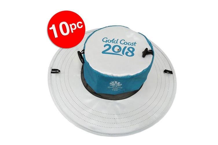 10x Gold Coast Sun Hat Comm Games/Men/Women Sport Cap/Pocket Foldable Pop-up