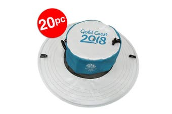 20x Gold Coast Sun Hat Comm Games/Men/Women Sport Cap/Pocket Foldable Pop-up