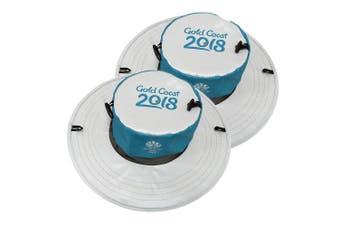 2x Gold Coast 2018 Sun Hat Comm Games Unisex/Men/Women Sport Cap/Foldable Pop-up