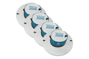 4x Gold Coast 2018 Sun Hat Comm Games Unisex/Men/Women Sports Cap Outdoor 10cm