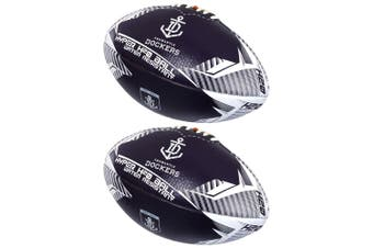 2x   AFL Hyper H20 Fremantle Dockers Sport Train Football/Rugby Ball