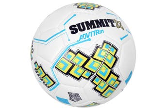 Summit ADV1 Size 5 Trainer Soccer Ball/Football White Sport/Game Indoor/Outdoor