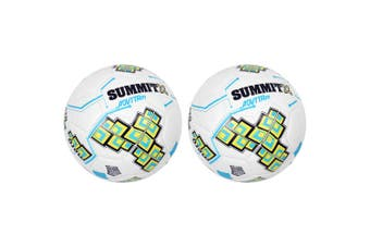 2PK Summit ADV1 Size 4 Trainer Soccer Ball/Football White Sport Indoor/Outdoor