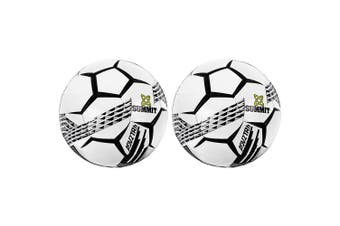 2PK Summit ADV2 Size 5 Trainer Soccer Ball/Football White Sport Indoor/Outdoor