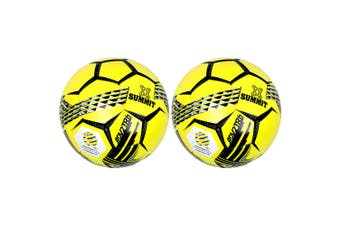 2PK Summit ADV2 Size 5 Trainer Soccer Ball/Football Yellow Sport Indoor/Outdoor