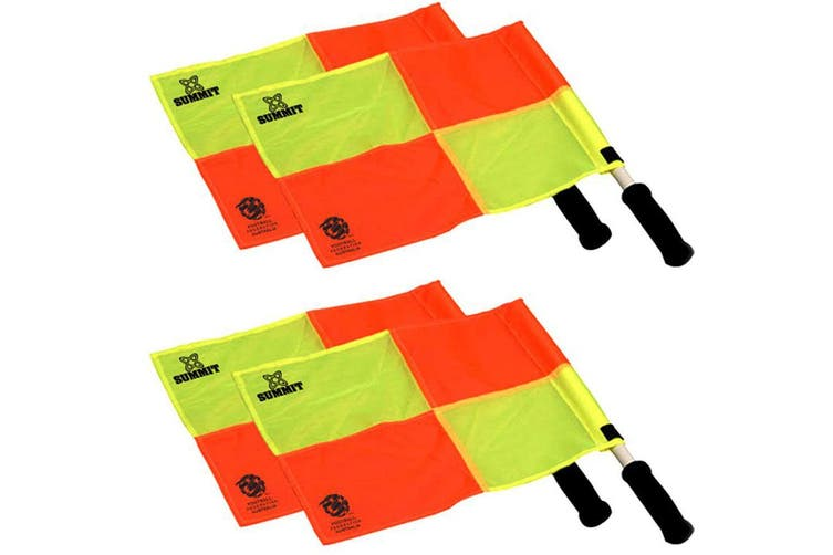 4pc 36cm Summit Linesman/Referee Flag f/ Training Sports/Soccer/Football Set