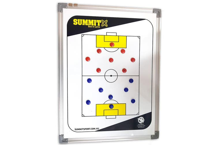 Summit FFA Coaching Board 60cm w/ Magnets/Reversible f/ Soccer/Game Planner