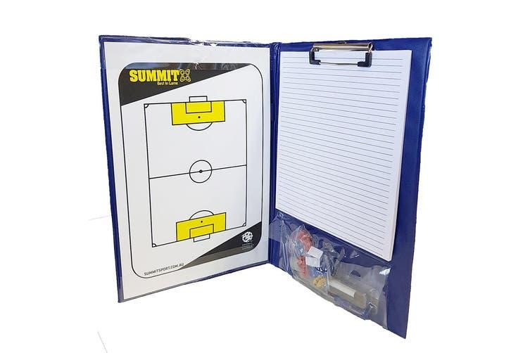 2x Summit Football Federation Australia Coaching Folder 36cm f/ Soccer/Game Plan