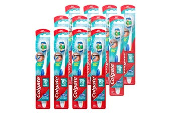 12PK Colgate 360° Clean Soft Bristles Toothbrush w/Cheek/Tongue Cleaner Assorted