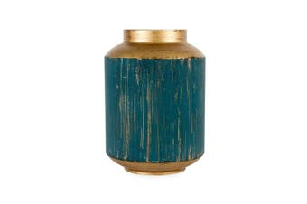 Lustre Decorative 21x29cm Vase Home Decor Plant/Flower Container Brushed BL/Gold