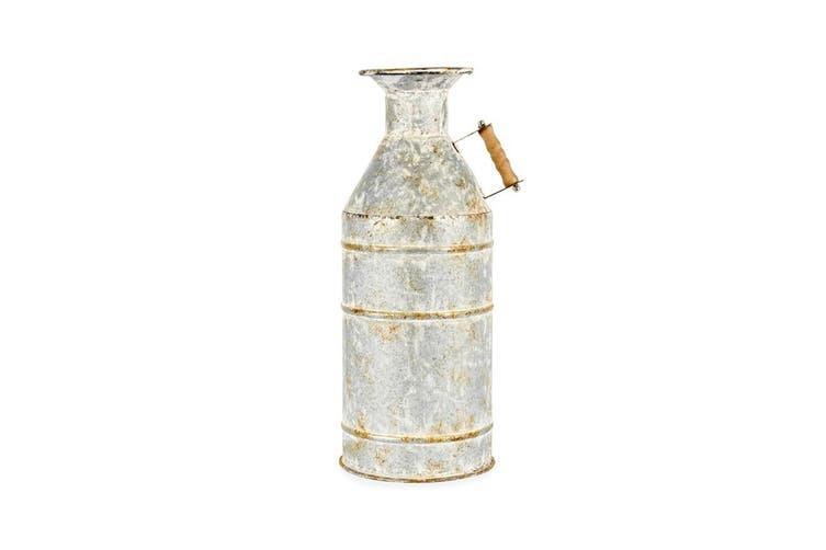 Vintage Rust 37.5x17cm Metal Churn Decor Jar Vase w/Handle Home Decoration/Grey