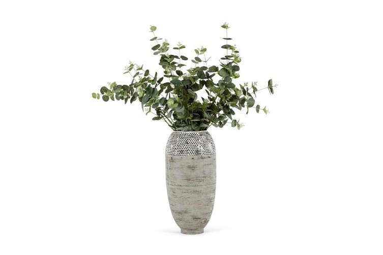 Tall Contemporary Hole Punched Decorative Vase Plant/Flower 23x45cm Home Decor