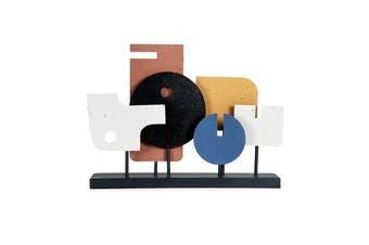 Contemporary Abstract Art Metal Sculpture Centrepiece 50cm Table Top/Home Decor