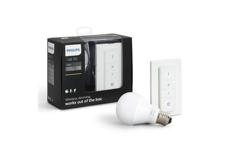 Philips Hue Wireless Dimming E27 9.5W Warm White Light Bulb/800LM/Switch Dimmer