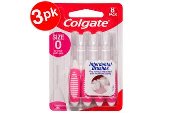 24pc Colgate Interdental Brush Floss Size 0 Teeth Cleaning Toothbrush Oral Care