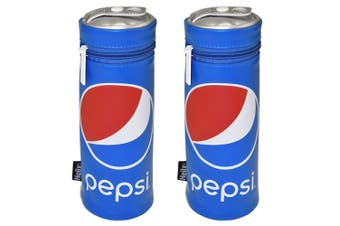 2PK Helix Pepsi Pencil Case/Pouch School Drawing Supplies Storage Organiser Blue