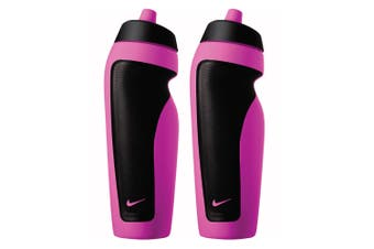 2PK Nike Sport 600ml Water Bottle Drink Hydration Sports Container Vivid Pink