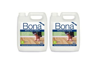 2PK Bona 2.5L Wood Floor Cleaner/Maintenance for Timber/Wooden Surface Cleaning