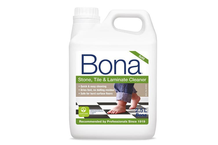 Bona 2.5L Stone Tile & Laminate Refill Maintenance for Floor Surface Cleaning