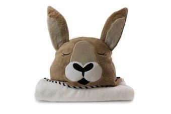 Bubba Blue Animals Kangaroo Novelty Hooded Infant/Nursery Wrap Baby Bath Towel