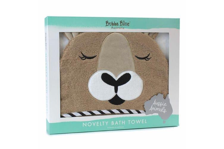 2PK Bubba Blue Animal Kangaroo Novelty Cotton Hooded Infant Wrap Baby Bath Towel