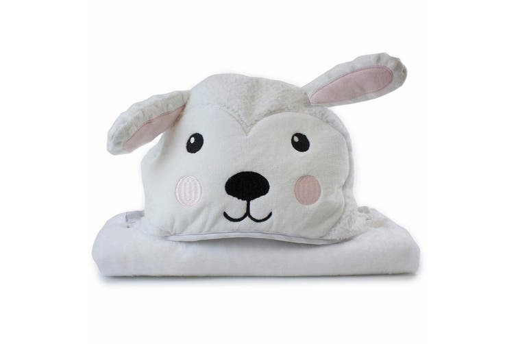 Bubba Blue Animals Sheep Novelty Hooded Nursery/Infant Wrap Baby 0m+ Bath Towel