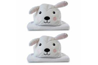 2PK Bubba Blue Animals Sheep Novelty Hooded Infant/Nursery Wrap Baby Bath Towel