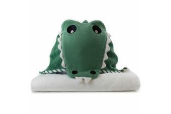 Bubba Blue Animals Crocodile Novelty Hooded Nursery/Infant Wrap Baby Bath Towel