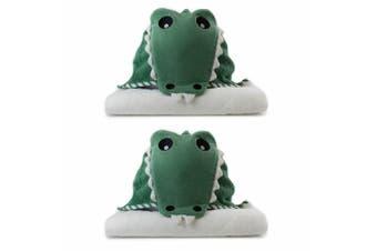 2PK Bubba Blue Animals Crocodile Novelty Hooded Nursery/Infant Baby Bath Towel