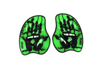 Arena Large Vortex Evolution Hand Paddle/Flippers/Gloves for Swimming Lime Green