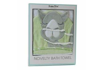 Bubba Blue Sahara Novelty Camel Nursery Wrap Baby 0m+ Bath Soft Hooded Towel GRN