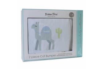 2pc Bubba Blue Sahara Breathable Soft Reversible Bumper Mesh Baby/Infant 0m+ Set