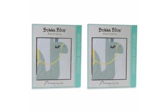 2PK Bubba Blue Sahara Change Cotton Mat Changing Cover Baby/Infant 0m+ Grey/WHT