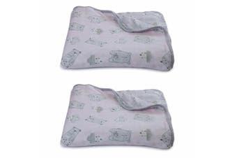 2PK Bubba Blue Beary Sweet Muslin Blanket Nursery Cotton Sheet Baby 0m+ Infant