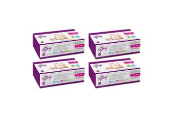 4PK 100pc New Beginnings 20x19cm Bamboo Dry Baby Wipes Fragrance Free Tissue