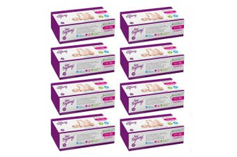 8PK 100pc New Beginnings 20x19cm Bamboo Dry Baby Wipes Fragrance Free Tissue