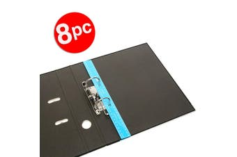 8x ColourHide Bindermate 30cm Metric Plastic Ruler w/ Holes for File Binder Blue