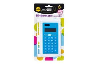 Marbig Bindermate 8 Digit Solar/Battery Handheld Calculator School Office Blue