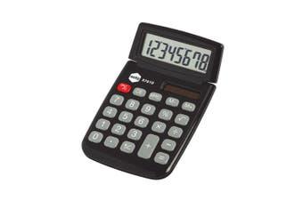 Marbig Dual Powered 8 Digit Pocket Solar Power Handheld Calculator Office Black