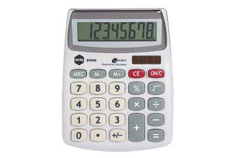 Marbig 8 Digit Compact Desktop Calculator Office/Home/School Solar Large Display