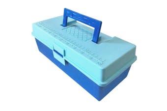 28cm Storage Box/Case w/Caddy/Organiser Tray for Tool/Sewing/Handcraft/Fishing